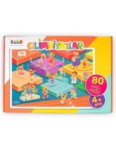 80 Parça Puzzle Olimpiyatlar 4 Yaş EOLO Yayınları