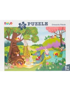 96 Parça Puzzle Ormandaki Piknik 5+ Yaş EOLO Yayınları