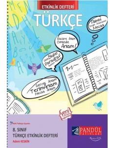 Pandül Yayınları 8. Sınıf Türkçe  Etkinlik Defteri