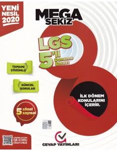 Cevap Yayınlarıı 8. Sınıf LGS 1. Dönem MEGA 5 li Deneme Sınavı