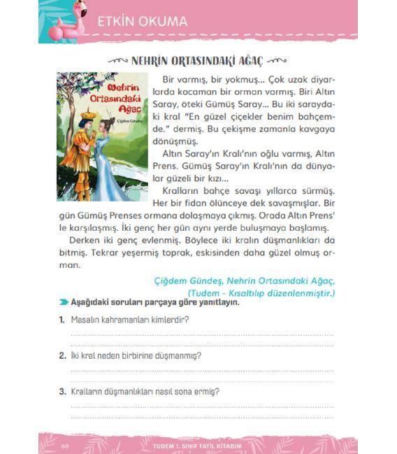 1. Sınıf Tatil Kitabım 2.Sınıfa Geçenler İçin Tudem Yayınları
