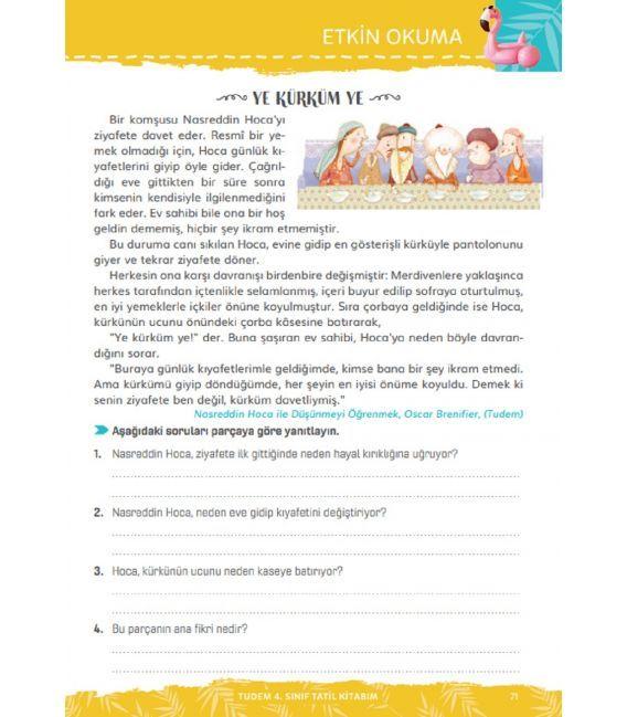 Tudem 4. Sınıf Tatil Kitabım 5.Sınıfa Geçenlere