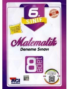 Açı Yayınları 6.Sınıf Matematik 8 adet Deneme Sınavı