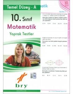 Birey 10.Sınıf Matematik Yaprak Testler Temel Düzey A