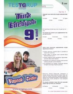 9.Sınıf Türk Edebiyatı Yaprak Testler Testgrup Yayınları