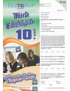 10.Sınıf Türk Edebiyatı Yaprak Testler Testgrup Yayınları