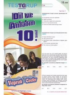 10.Sınıf Dil ve Anlatım Yaprak Testler Testgrup Yayınları