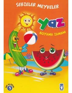 Boyama Zamanı Sebzeler Meyveler 5 Kitap Timaş Yayınları