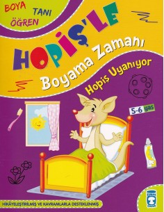 Hopişle Boyama Zamanı 3 Kitap Timaş Yayınları