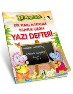 Damla Yayınları Dik Temel  Harflerlerle Klavuz Çizgili Yazı Defteri
