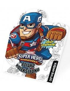 Marvel Süper Kahramanlar Boyama Koleksiyonu Captan America