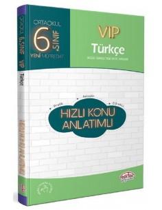 Editör 6. Sınıf VIP Türkçe Hızlı Konu Anlatımlı