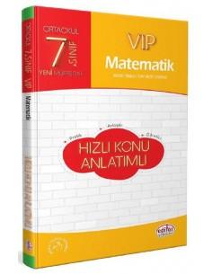 Editör 7. Sınıf VIP Matematik Hızlı Konu Anlatımlı