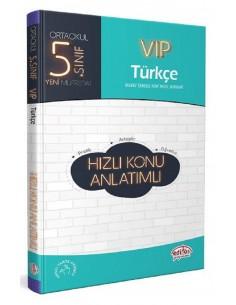 Editör Yayınları 5.Sınıf VİP Türkçe Konu Anlatımlı