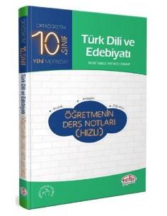 Editör 10. Sınıf Türk Dili ve Edebiyatı Öğretmenin Ders Notları (Hızlı)