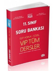 Editör 11. Sınıf VIP Tüm Dersler (Eşit Ağırlık-Sözel) Soru Bankası Kırmızı Kitap