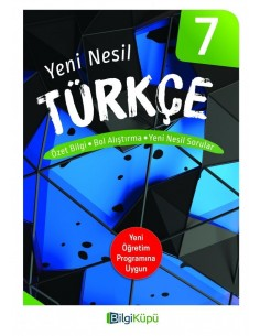 Bilgiküpü 7. Sınıf Yeni Nesil Türkçe