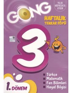 Eğiten Kitap Gong 3. Sınıf Haftalık Tekrar Föyü