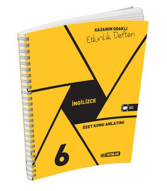 Hız Yayınları 6. Sınıf İngilizce Kazanım Odaklı Etkinlik Defteri