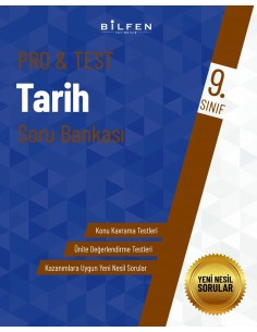 Bilfen Yayınları 9. Sınıf  Pro Test Tarih Soru Bankası