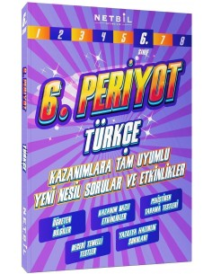 Netbil Yayınları 6. Sınıf Türkçe Periyot Etkinlikli Soru Bankası