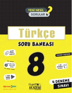 Üçgen Yayınları 8. Sınıf Türkçe Soru Bankası