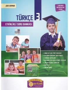 Artım Yayınları 3. Sınıf Etkinlikli Türkçe Soru Bankası