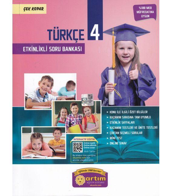 Artım Yayınları 4. Sınıf Türkçe Etkinlikli Soru Bankası