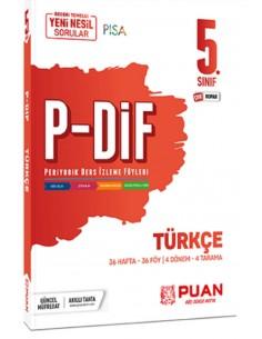 Puan Yayınları 5. Sınıf Türkçe PDİF Konu Anlatım Föyleri