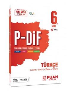Puan Yayınları 6. Sınıf Türkçe PDİF Konu Anlatım Föyleri