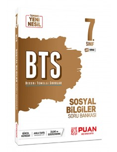 Puan Yayınları 7. Sınıf Sosyal Bilgiler BTS Beceri Temelli Soru Bankası