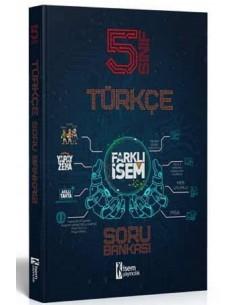 İsem Yayınları 5. Sınıf Farklı İsem Türkçe Soru Bankası