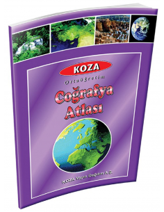 Koza Yayın İlköğretim Coğrafya Atlası (Kuşe)