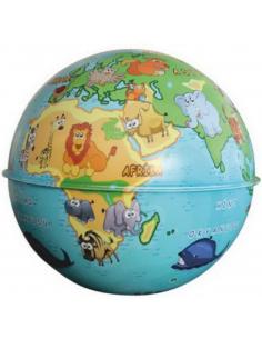 Gürbüz Globe Kalemtraş Siyasi Küre Kumbara 10 Cm
