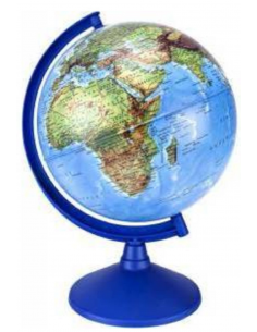 Gürbüz Globe İngilizce Işıklı Küre Antik 20cm