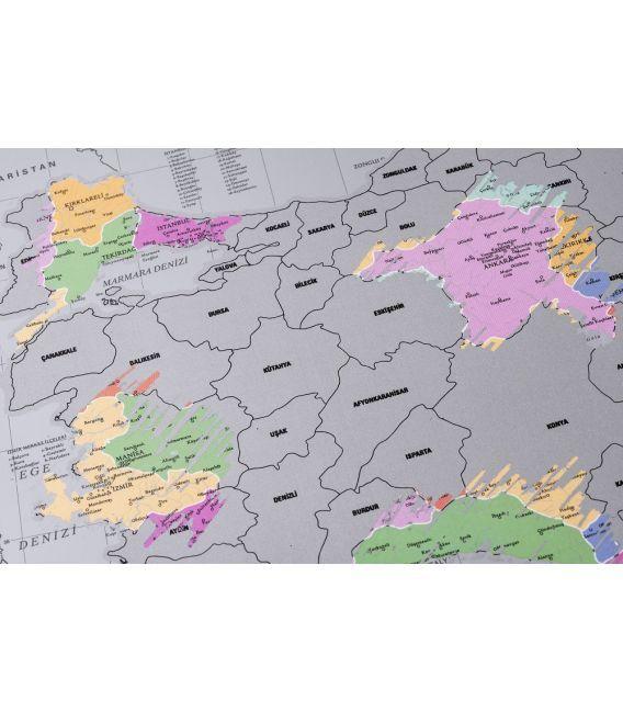 Gürbüz Yayınları Kazınabilir Dünya Haritası Set(50 Adet)