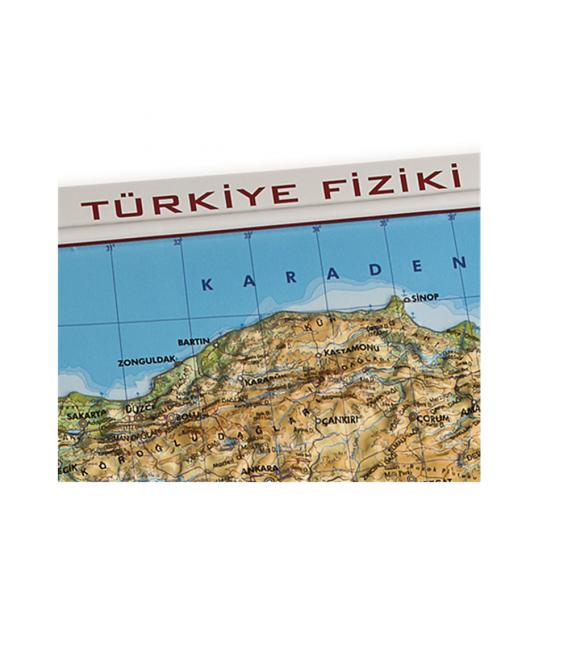 Kabartma Türkiye Fiziki Haritası (35x50) - Gürbüz Yayınları