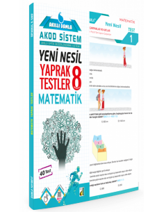 AKILLI DAMLA MATEMATİK YAPRAK TESTLER-8. SINIF