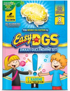 Adeda Yayınları Easy DGS Dikkati Güçlendirme Seti 4-7 Yaş B