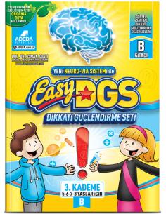Adeda Yayınları Easy DGS Dikkati Güçlendirme Seti 5-8 Yaş B