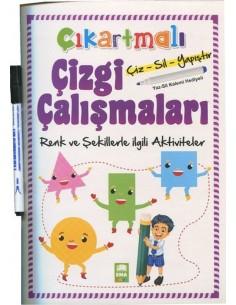 EMA Çocuk Çıkartmalı Çizgi Çalışmaları - Renk ve Şekiller