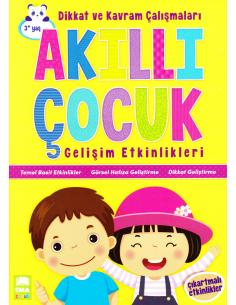 EMA Çocuk Yayınları Akıllı Çocuk Gelişim Etkinlikleri Dikkat ve Kavram Çalışmaları