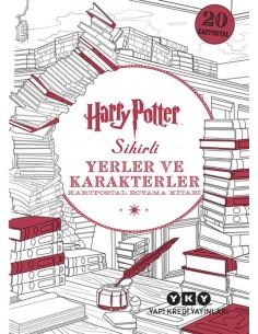 Yapı Kredi Yayınları Harry Potter Sihirli Yerler ve Karakterler – Kartpostal Boyama Kitabı