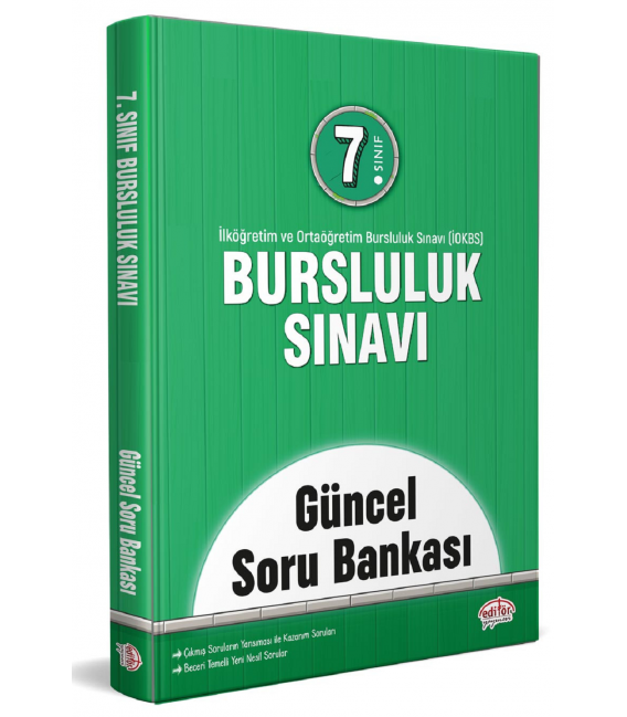Editör Yayınları 7. Sınıf Bursluluk Sınavı Güncel Soru Bankası