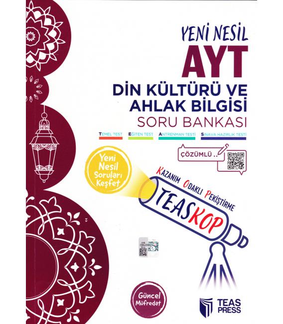 Teas Press TEASKOP AYT Din Kültürü ve Ahlak Bilgisi Soru Bankası