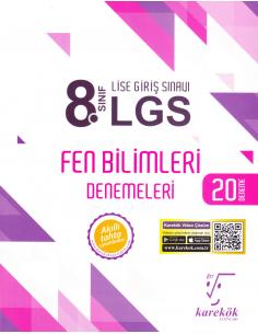Karekök Yayınları 8.Sınıf LGS Fen Bilimleri 20'li Deneme Sınavı