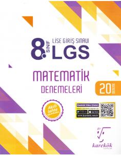 Karekök Yayınları 8.Sınıf LGS Matematik 20'li Deneme Sınavı