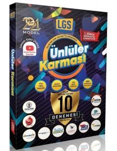 Ünlüler Yayınları 8.Sınıf LGS 10 Farklı Deneme Sınavı - 2021