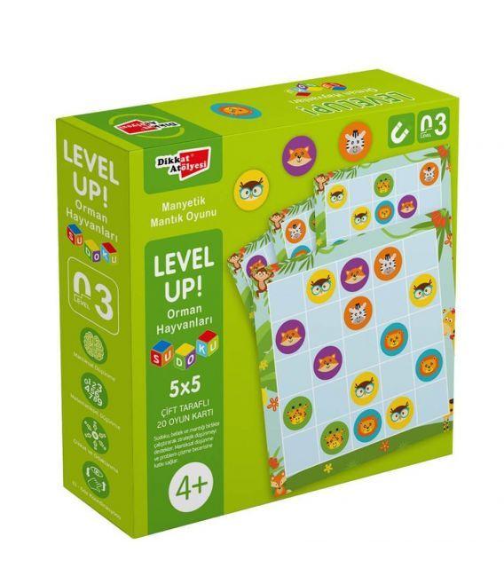 Dikkat Atölyesi  LevelUp LevelUp 3 - Orman Hayvanları Sudoku