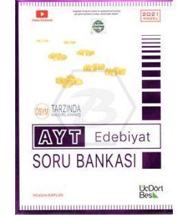 ÜçDörtBeş Yayınları AYT Edebiyat Soru Bankası 2021 Model